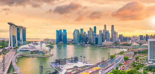 Photo  Singapore downtown skyline