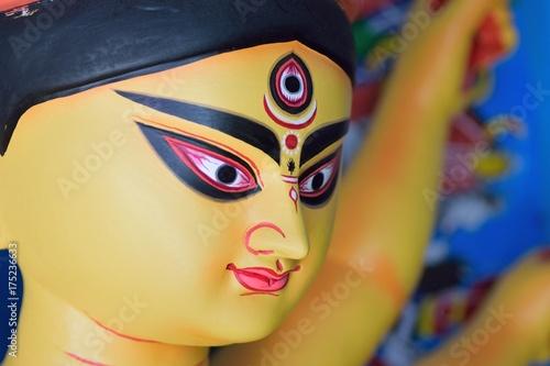 Clay idol of Hindu Goddess Durga for Durga Puja festival in India