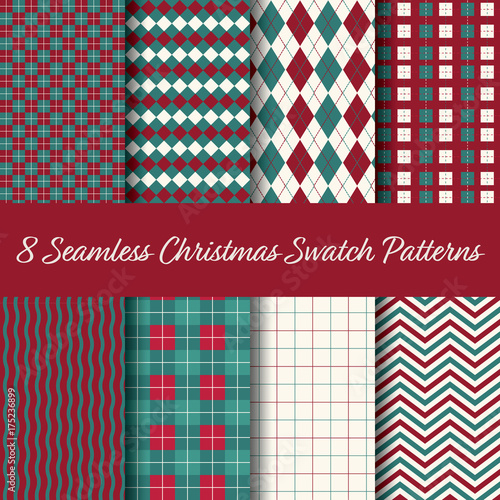 Photo  Christmas Seamless Swatch Pattern Vector