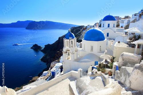 Foto auf Leinwand Santorini Santorin / Greece