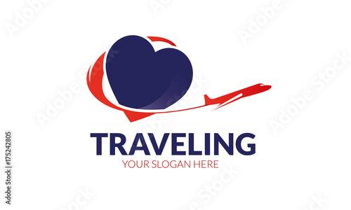 Obraz na plátně  Traveling Logo