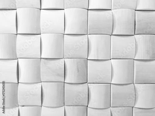 Plakat Biały geometryczny wzór.
