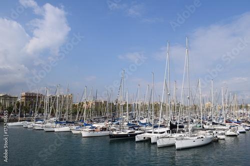 Plakat Port w Barcelonie