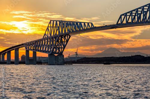 Plakat Tokyo Gate Bridge Sunset