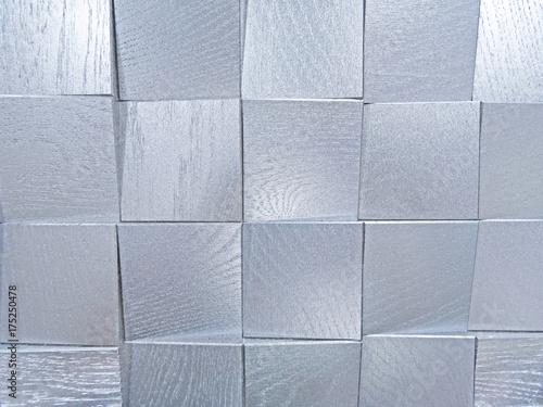 Plakat Srebrny geometryczny wzór