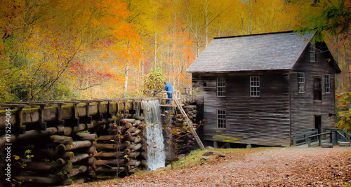 Historic grist mill Wallpaper Mural