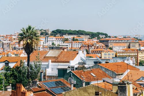 Plakat Widok Z Lotu Ptaka Lisbon Miasto W Portugalia