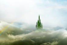 Emerald City 3 With Rainbow