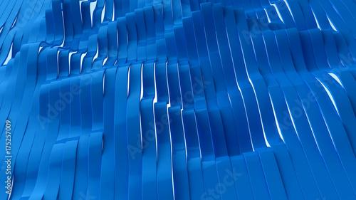 Obraz na płótnie Perspektywiczny widok błękitni modni lampasy, 3d ilustracja.
