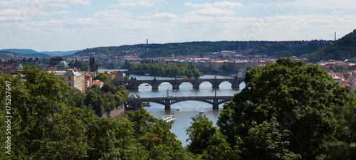 Photo  Vltava River and Bridges of Prague  Czech Republic