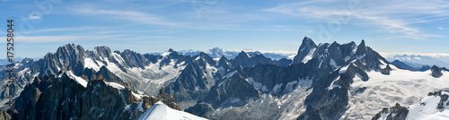 Aluminium Prints Alps Beautiful Alps as seen from Aiguille du Midi