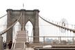 New York, view of the Brooklyn Bridge