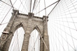 New York, view of the Brooklyn Bridge