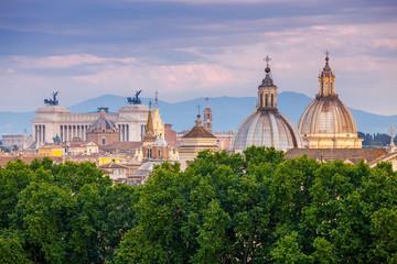 Fototapeta na wymiar Rome. Aerial view of the city.