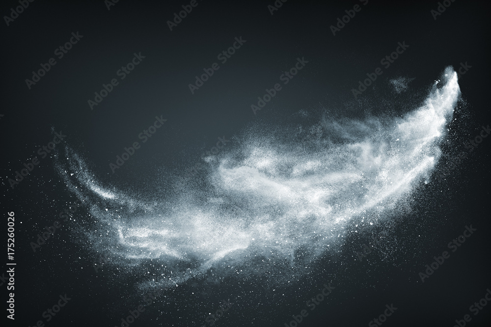Fototapeta Abstract design of white powder snow cloud