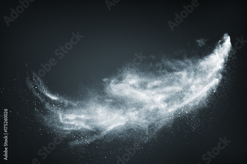 Fototapeta Abstract design of white powder snow cloud obraz