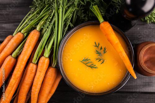 Obraz na plátně  Carrot cream soup