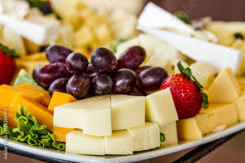 Fruit and Cheese Tray on Display Wallpaper Mural
