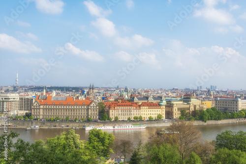 Obraz na dibondzie (fotoboard) Praga i Vltava rzeka, republika czech