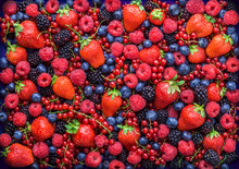 Berries Overhead Closeup Color...