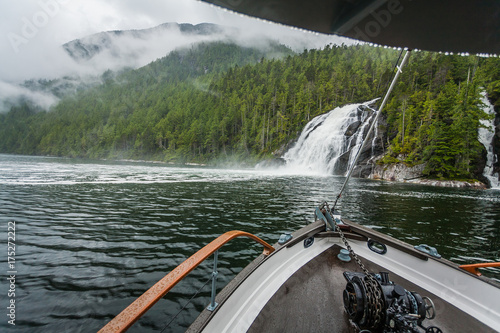 Boat ride adventure through the British Columbia's Great Bear Rainforest Poster