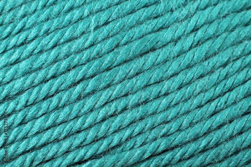 Fotografie, Obraz  A super close up image of turquoise yarn