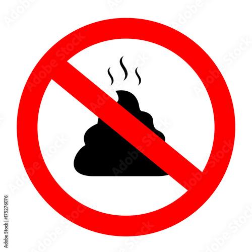 Fototapeta No poop vector sign