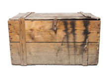 Old Wooden Chest, Isolated