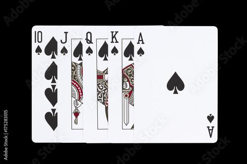 Vászonkép royal flush spades flourish