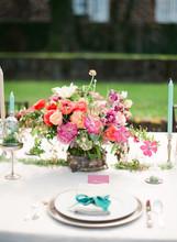 Garden Wedding Place Setting