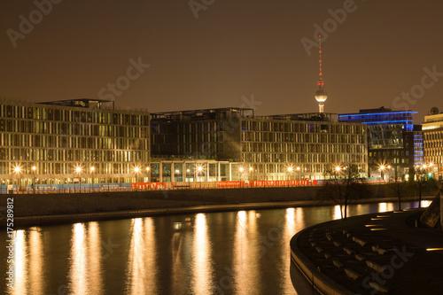 Zdjęcie XXL Berlin w nocy Spree
