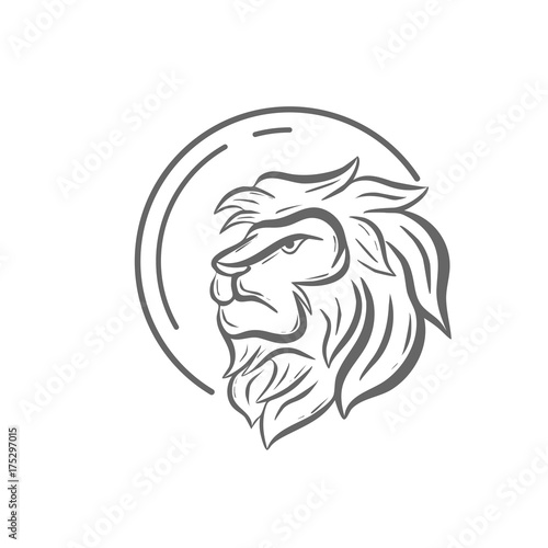 Fototapety, obrazy: Circle with head lion