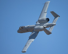A-10 Thunderbolt II In A  Tight And Close Turn