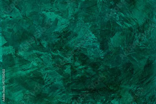 tło tekstur sztukaterii z efektem marmuru malachitowego koloru. artystyczne tło ręcznie