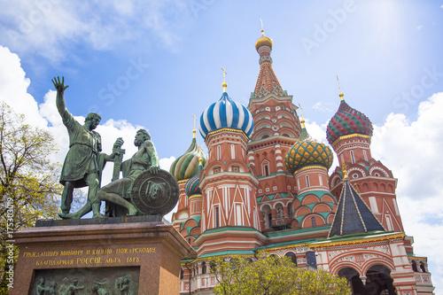 Plakat Katedra Świętego Bazylego w Moskwie, Rosja.