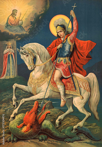 Icon Of The Great Martyr St George The Victorious