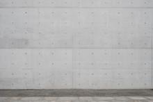 Walkway / Sidewalk And Concrete Wall Background