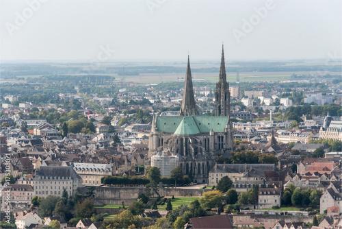 Poster  Vue aérienne de la cathédrale de Chartres en France