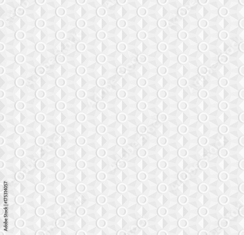 Fotografija  White seamless geometric pattern, ribbed surface with rings, use as a background or texture, the 3D effect vector