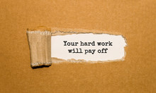 The Text Your Hard Work Will P...