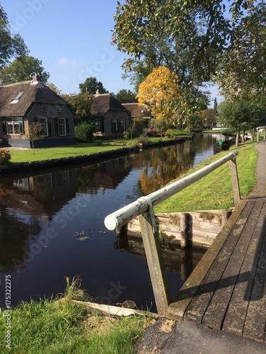 Keuken foto achterwand Kanaal Dutch Canals. Giethoorn. Dwarsgracht