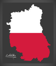 Lubelskie Map Of Poland With P...