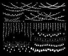 Hanging Light Bulb Stars Circl...