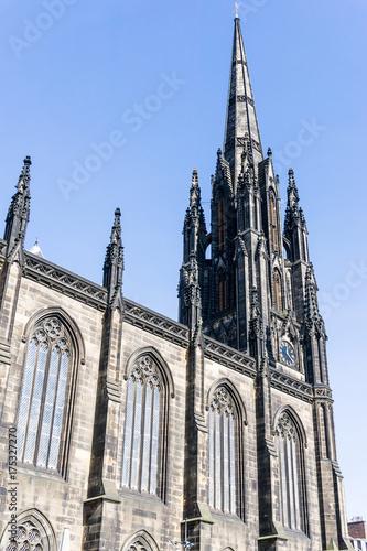 Obraz na dibondzie (fotoboard) antyczny budynek kościoła w Edynburgu w Szkocji
