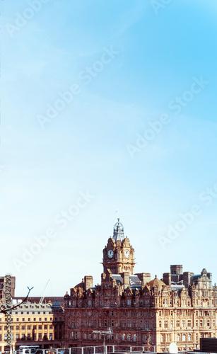 Obraz na dibondzie (fotoboard) zabytkowy budynek miasta w Edynburgu w Szkocji