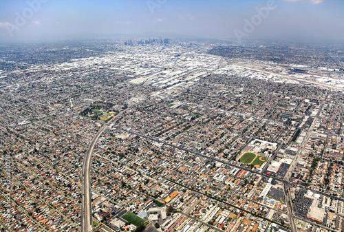Obraz na dibondzie (fotoboard) Widok z lotu ptaka na miasto w Los Angeles