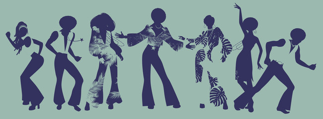 Soul Party Time. Dancers of soul, funk or disco.