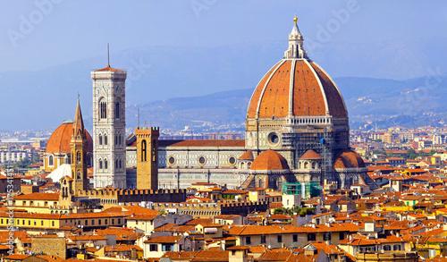 Plakat Florencja katedralny Duomo Włochy