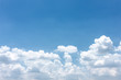 Sky background with cloud