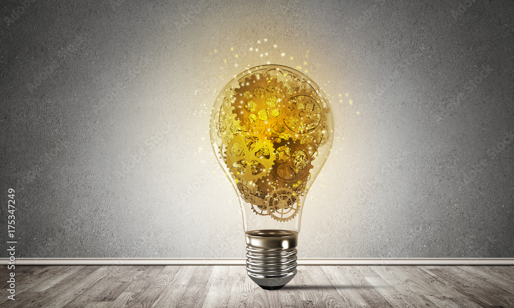 Fototapety, obrazy: Concept of lightbulb as symbol of new idea.